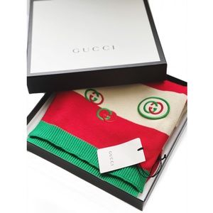 GUCCI GG Embroidered Scarf - NWT